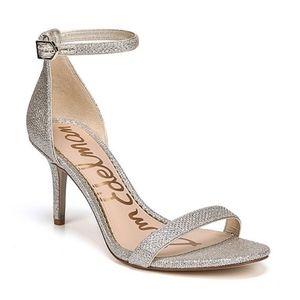 Sam Edelman Patti Soft Silver Glam Mesh Sandal